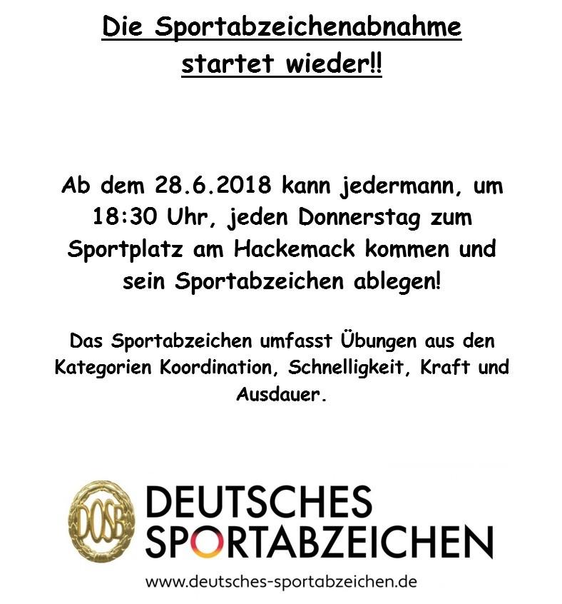 Sportabzeichen Werbung
