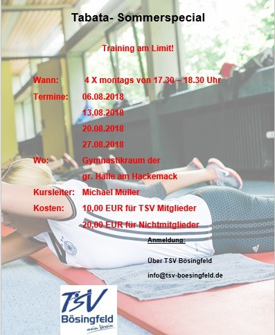 Tabata Sommerspecial
