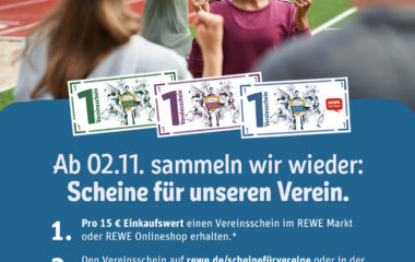 """Ab dem 02.11.2020 gibt wieder """"Scheine für Vereine"""""""